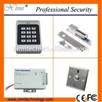 China Security product access control card and pin 1000 users door access controller kit contains boly lock,power supply,exit button for sale
