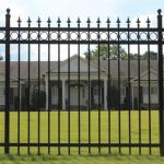Top Lattice Garden Steel Powder Coated Garrison Fence