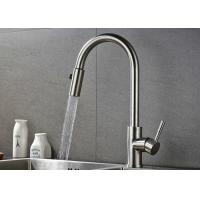 Pull Down Flexible Brushed Nickel Kitchen Faucet 10 - 90 Degree Working Temp ROVATE for sale