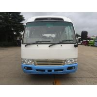 China Environmental Low Fuel Coaster Minibus New Luxury Tour Shuttle Bus With Gasoline Engine for sale