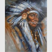 China Impression Human Portrait Painting Tribal Leaders Handmade On Canvas for sale