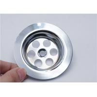 Chrome Plated Bathroom Basin Strainer Round Good Filter Effect Anti - Clogging for sale