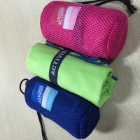 Sports Microfiber Suede Towel / Quick Dry Travel Towel 140 - 300GSM Weight for sale