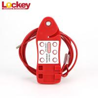 China Adjust Steel Wire Security Mini Cable Lockout Fish - Shaped With 3.8 Dia supplier