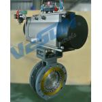 Flanged High Performance Butterfly Valves / Pneumatic On Off Butterfly Valve for sale
