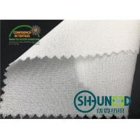 China 55GSM Fusible Woven Adhesive Liner /White  Interlining In Garments for sale