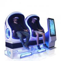 China Attractive 9D VR Cinema Egg Shape VR Chair Simulation Rides Single / Double / Triple Seats for sale
