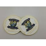 Custom Military Challenge Coin , Souvenir Brass Enamel Coins In Velvet Box for sale