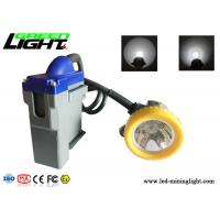 Corded Rechargeable Miners Headlamp 15000lux 3W Cree Led With 6.6Ah Li - Ion Battery for sale