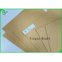 China Food Grade Box Board Brown Roll Kraft Craft Paper Sheet 130gr to 350gr Virgin Pulp for sale