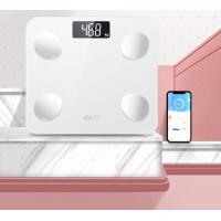 China Elegant White Digital Body Scale / Body Fat Scale Max Capacity 180kg for sale