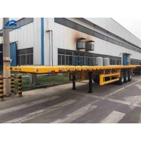 Container Flatbed Trailer For 20FT & 40FT Container Transport