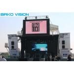 Brightness Adjustable Outdoor Led Screen Hire 3.91mm Pixel 160°/140° Viewing Angle for sale