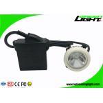 ABS LED Mining Cap Lights IP68 6.6Ah Li - Ion Battery 10000lux Brightness for sale