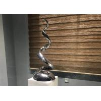 Polished Contemporary Art Stainless Steel Sculpture For Indoor Decoration for sale