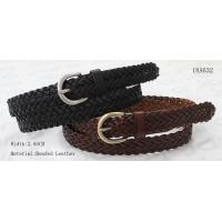2.6CM Lady Womens Braided Belt Dark Brown / Black Belt Tape In Small Buckle for sale