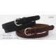 China 2.6CM Lady Bonded Leather Dark Brown / Black Belt Tape In Small Buckle for sale
