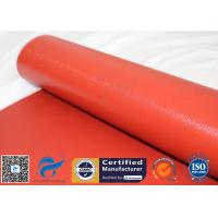 1150g Shiny Red Silicone Coated Fiberglass Fabric For Engine Thermal Insulation for sale
