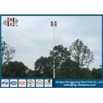 Led High Mast Commercial Light Pole , Hot Dip Galvanized Flood Light Poles Q235 for sale