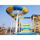 Outdoor water park equipment giant boomerang water slide fiberglass material for family for sale
