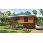 Heat Insulation Prefab Home Beach Bungalows , Customized Light Steel Bungalow