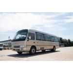 China Front Cummins Engine Toyota Costa Bus , 7.7M Toyota Minibus 31 Seats Capacity for sale