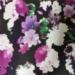 Elegant 240GSM Floral Jersey Knit Fabric , 100% Polyester Jersey Fabric for sale