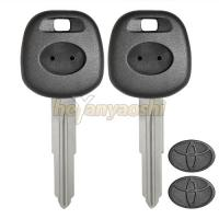 Toyota Transponder Key Shell Toy41R Brass Blade Best Car Key Shell Replacment for sale