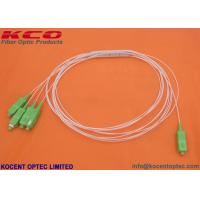 High Stability Blockless Fiber Optic Splitter PLC 0.9mm 1.0m 1.5m 2.0m LSZH SC/APC 1x4 for sale