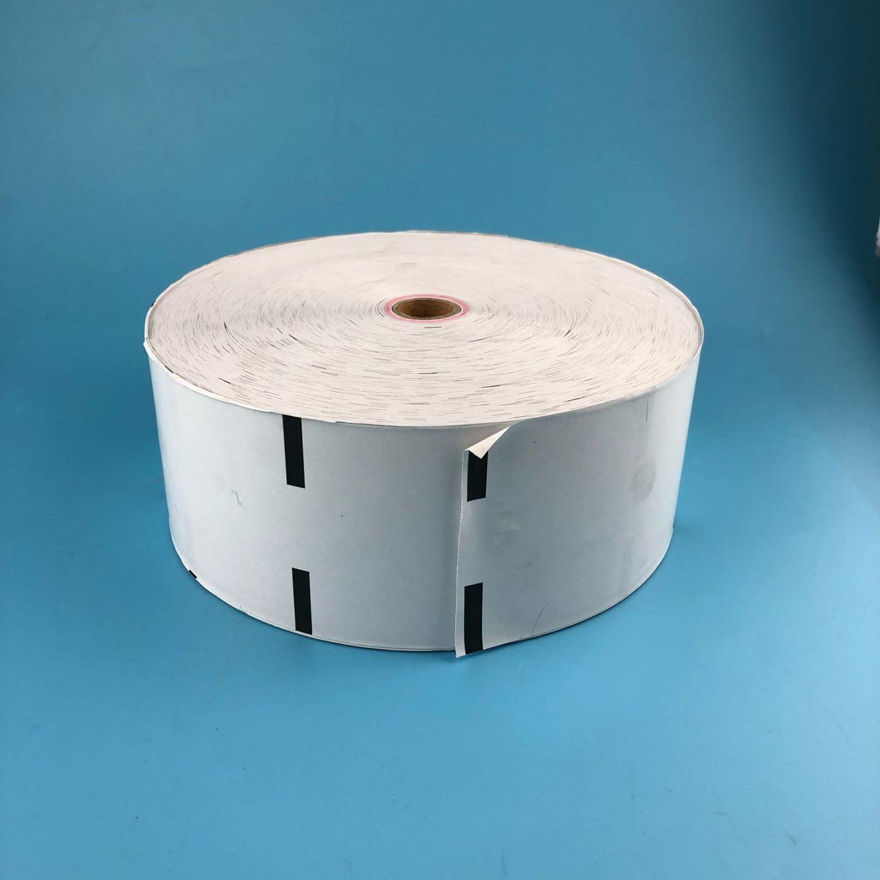 China White Wincor Nixdorf ATM Parts 200*17*80 Thermal Receipt Rolls With Black Marker for sale