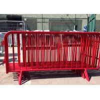 China Crowd Control Metal Pedestrian Barriers Electrostatic Coating For Concert for sale