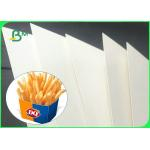 China 350gsm + 15g High Stiffness PE Coated GC1 Paper Board For Making Food Boxes for sale