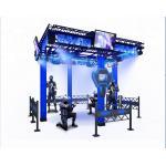China Big Theme Park VR Space Walker 9D Virtual Reality Platform Black / Blue Color for sale