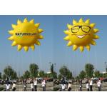 Sun Shaped Custom Inflatable Helium Balloons And Blimps 0.18mm PVC Material for sale