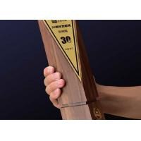 China Solid Wooden Shield Plaque Lightweight Agent / Employee Awards At Year End Party for sale