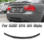Carbon Fiber BMW Body Kits Rear Spoiler For 3 Series E90 M4 Style Carbon Fiber 05 - 11 Sedan for sale