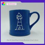 Unique Design Custom Embossed Mugs Outdoor Travel Personalized Ceramic Cups for sale