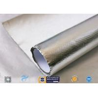 Heat Reflect Aluminium Foil Silver Coated Fabric For Industry 0.85mm Thickness for sale