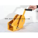 China 1800lbs A3 Steel Manual Hand Winch Yellow For Terminals / Construction for sale