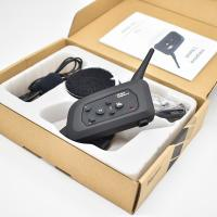 4 Riders Group Talk Motorcycle Bluetooth Intercom 1200m Talking Distance Standby 300h for sale