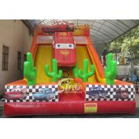 China 6m high kids extreme speed race inflatable car slide for kids outdoor entertainment for sale