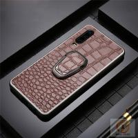 China Genuine Leather Cell Phone Protective Covers Embossed Crocodile Skin Pattern for sale