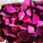 China Fresh IQF Frozen Vegetables , Snap Frozen Natural Sweet Purple Potatoes for sale