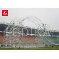 Semi Round Big Circular Truss Aluminum Arched Roof Systems For Fashion Show for sale