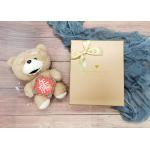Gold Cardboard Gift and Shopping Boxes With Gold Bowknot for sale