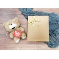Gold Small Cardboard Gift Boxes With Gold Bowknot , Individual Cardboard Boxes for sale