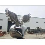 Customized Stainless Steel Garden Sculptures , Abstract Metal Art Sculptures for sale