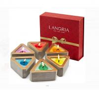 Colored Scented Jar Candle With Packaging Boxes Home Decoration Customized Logo for sale