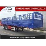 Three axle 40 ft fence cargo trailer for transport cement and dry cargo