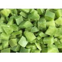 China FDA IQF Frozen Vegetables Sweet Green Pepper Diced Bell Pepper Cubes for sale